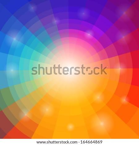 abstract circular colorful