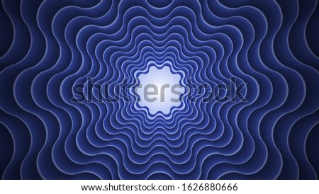 Abstract circular geometric background. Circular geometric centric motion pattern. classic blue color. 2020