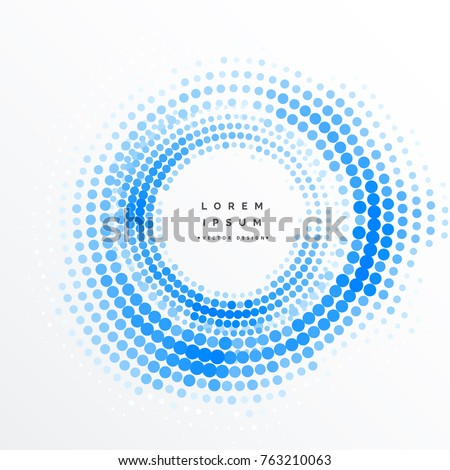 abstract circular halftone frame background