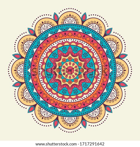 Abstract circular pattern. Mandala design. Decorative ornament