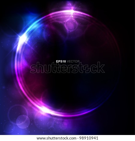 Abstract circular space design