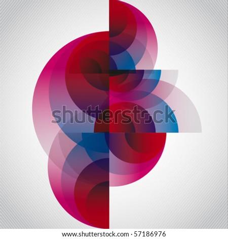 abstract circular vector
