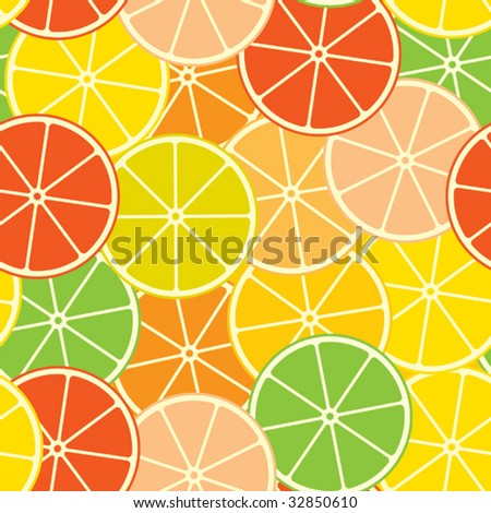 Abstract citrus background. Seamless. Vector illustration.