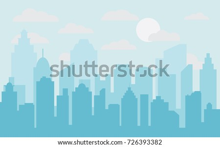 abstract city building skyline