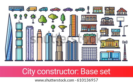 abstract city constructor in