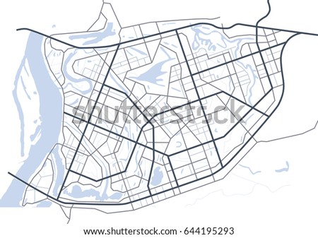 Abstract City Map Vector Download Free Vector Art Stock - Artistic map of us
