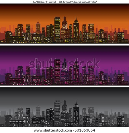 abstract city skyline banners