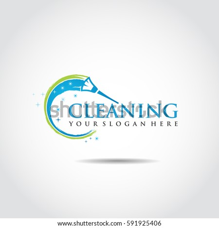 Abstract Cleaning Logo Template. Vector Illustrator Eps.10