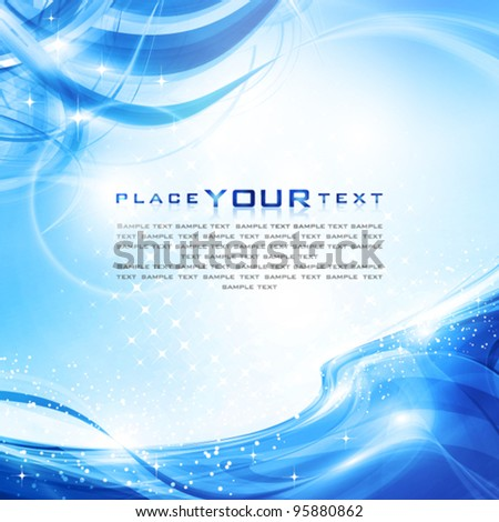 Abstract clear cold water. Vector