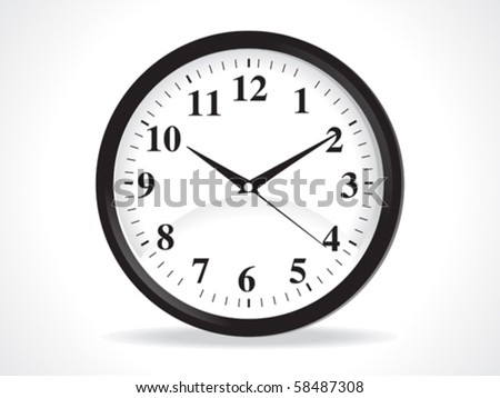 abstract clock icon vector illustration