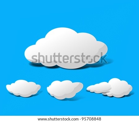 Abstract Cloud Background Vector illustration.