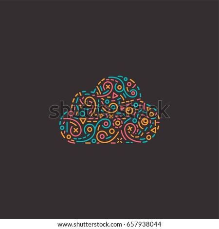 abstract cloud design template