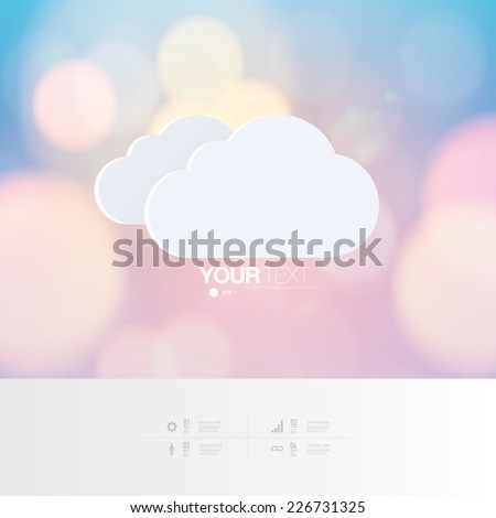 abstract cloud icon design with