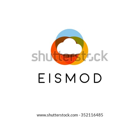 abstract cloud logo design