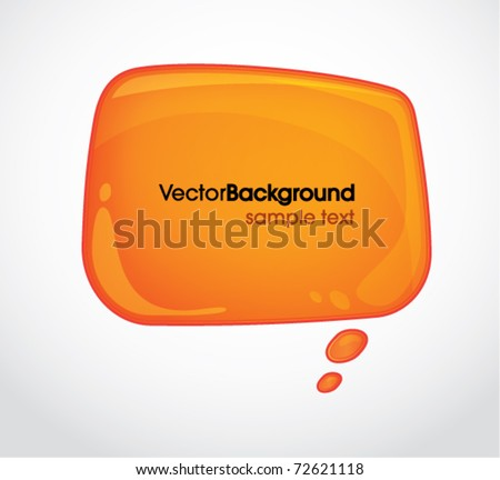 Abstract cloud shaped background