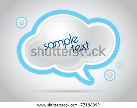 Abstract cloud web background vector illustration