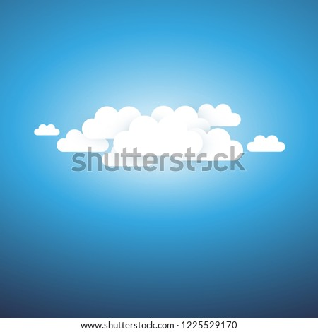 Abstract Cloudy Sky, Sunshine Background - Template for Posters, Flyers, Postcards, Headers or Web Banners - Vector Illustration