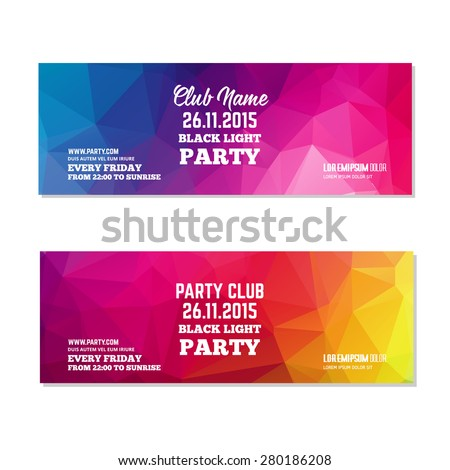 abstract club flyer template
