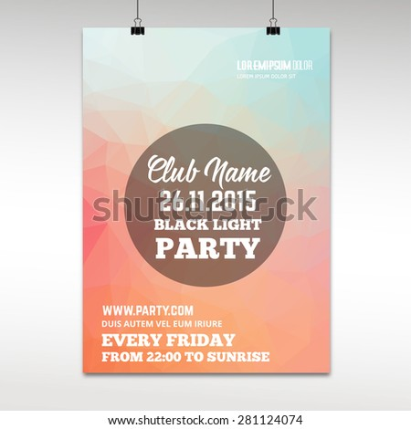abstract club poster template