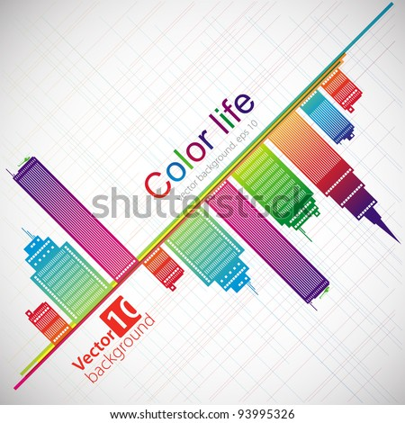 abstract color background city