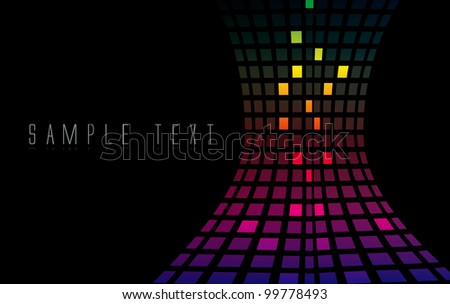 Abstract color background in editable vector format - stock vector