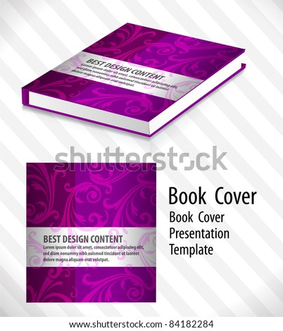 abstract color book cover template,vector