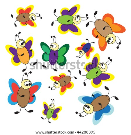 Pics Of Butterflies To Color. abstract color butterflies