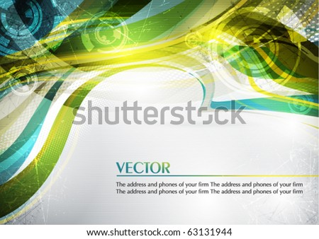 Abstract color card in retro style. Vector