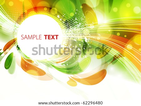 Abstract color card. Vector background