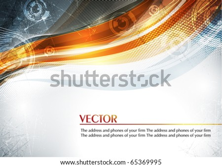 Abstract color card with lighting effect. Vector