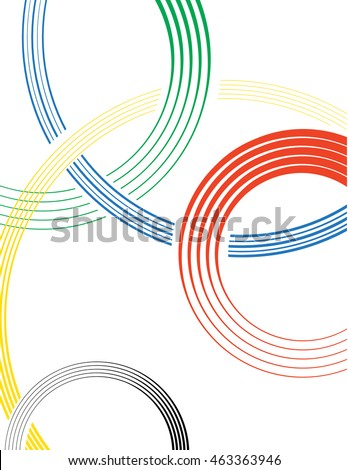 Abstract color circles design. Vector. Olympic rings concept background.