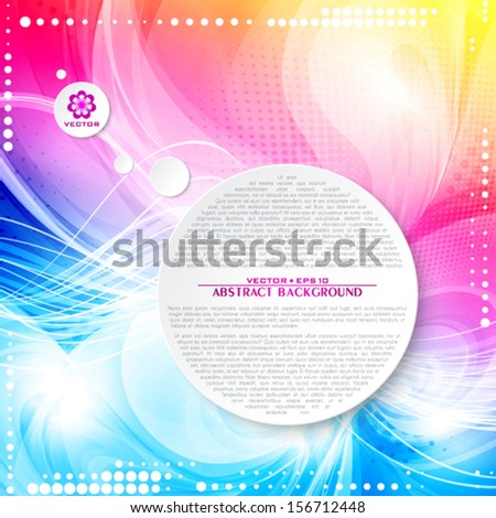 Abstract color elegant background for a romantic party. Vector