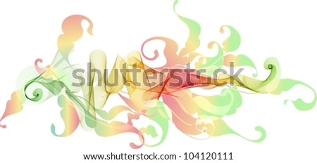 Abstract color floral background for design, beautiful vector illustration