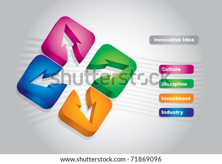 Abstract color graphics, about innovative idea