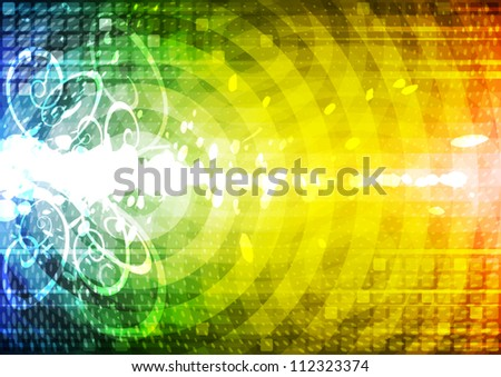 Abstract color illustration. - stock vector