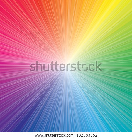 Stock Photo abstract color of color wheel burst. vector illustration.