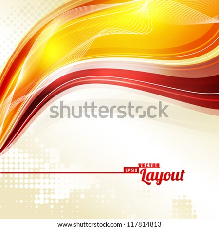 Abstract color retro background. Vector