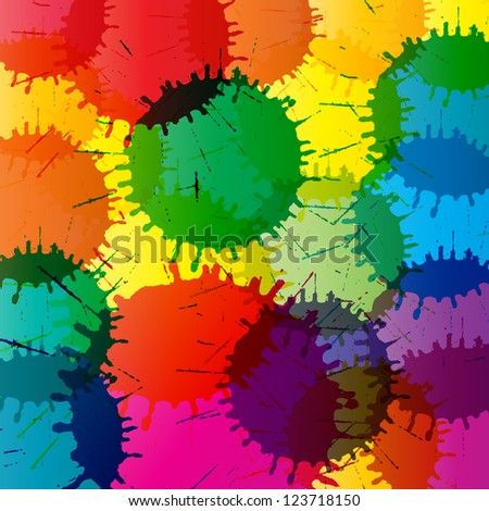 Abstract color splashes vector background