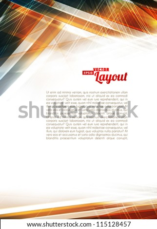 Abstract color techno background. Vector