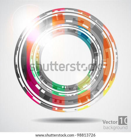 Abstract color technology circles. Vector