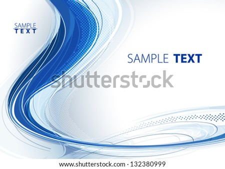 Abstract color wave. Vector