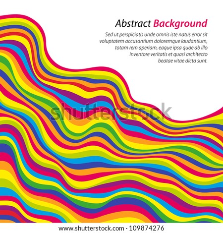 Abstract color waves. Vector background