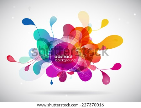 Stock Photo abstract colored background with circles.