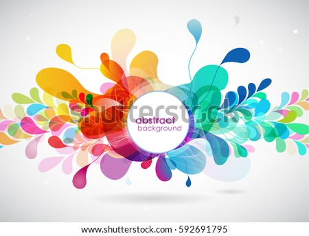 Shutterstock abstract colored background with circles.