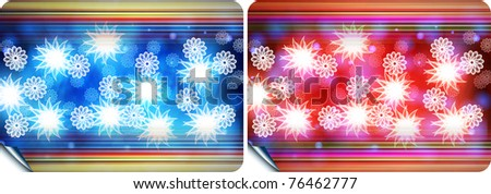 Abstract colored background with flower
