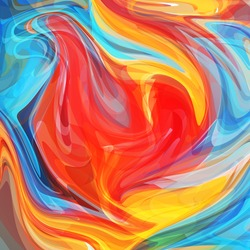 Abstract colored bright energy background. Vector illustration.