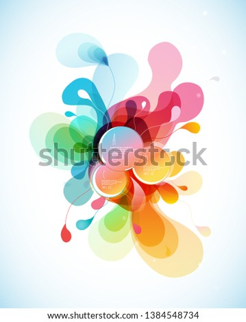 Abstract colored flower background with circles. #1384548734