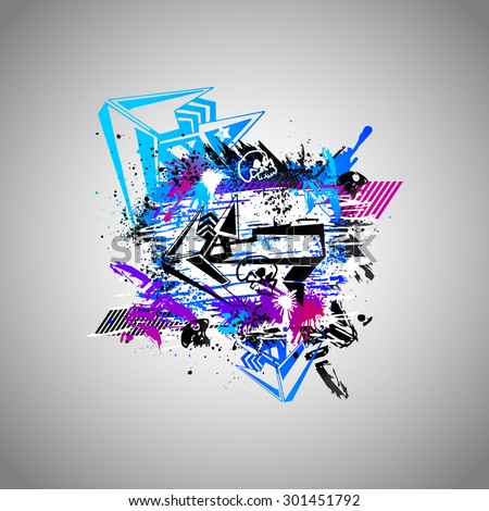 abstract colored vector