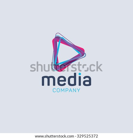 abstract colored vector logo