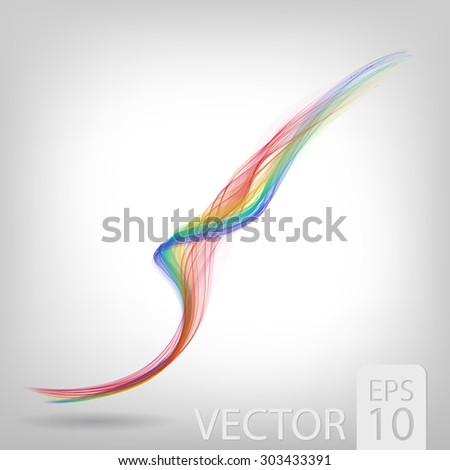 abstract colored wave lines